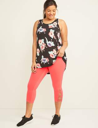 Lane Bryant Wicking LIVI Active Capri Legging - Lace-Up Hem