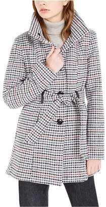 BCX Juniors' Belted Houndstooth Jacket