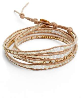 Chan Luu Mystic Clear Quartz Mix Wrap Bracelet