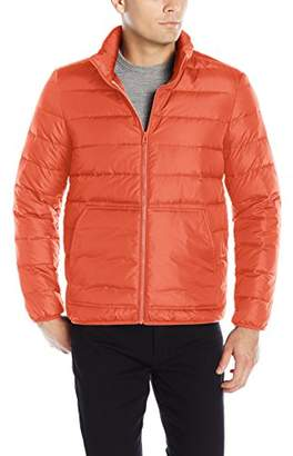 Cole Haan Men's Packable Neck Pillow Down Travel Jacket
