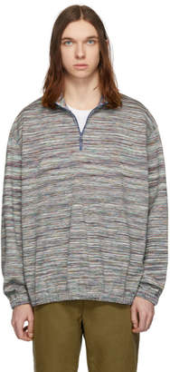 Missoni Multicolor Striped Half-Zip Sweater