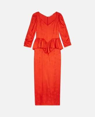 Stella McCartney angela red leopard dress
