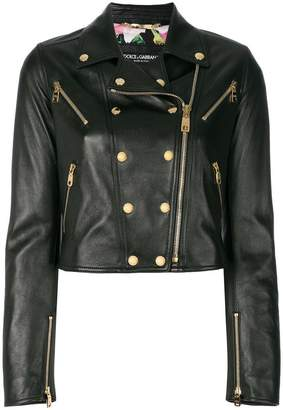 Dolce & Gabbana studded leather biker jacket