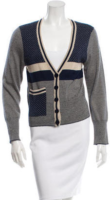Marc by Marc Jacobs Striped Wool Cardigan $85 thestylecure.com