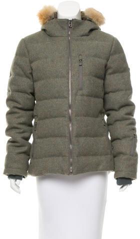 HunterHunter Fur-Trimmed Down Coat
