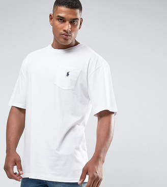 Polo Ralph Lauren Big & Tall T-Shirt Polo Player In White