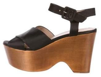 Celine Satin Platform Sandals