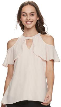 Candies Juniors' Candie's Cold-Shoulder Halter Tee