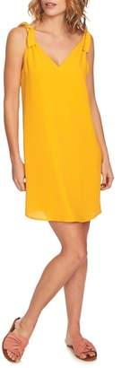 1 STATE 1.STATE Tie Shoulder Shift Dress