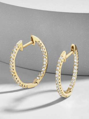 BaubleBar Canale 18K Gold Plated Huggie Hoop Earrings