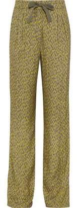 Etro Printed Faille Wide-Leg Pants