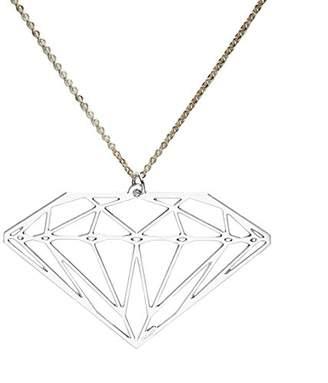 Girls' Best Friends Necklace Brass Diamond GPGDIAMrodio 51 cm-Silver
