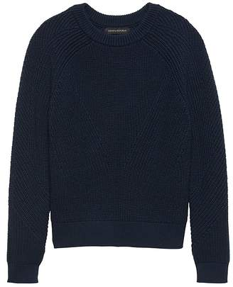 Banana Republic Chunky Ribbed Crew-Neck Sweater