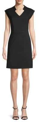 Halston V-Neck Sheath Dress