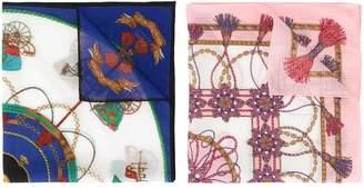 Celine Pre-Owned logo scarf set