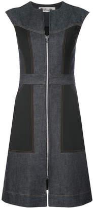 Diane von Furstenberg Sleeveless tailored zip front dress