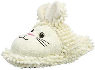 Fuzzy Friends Aroma Home Shoes Rabbit, Women's Open Back Slippers, White (Cream), (41 EU)