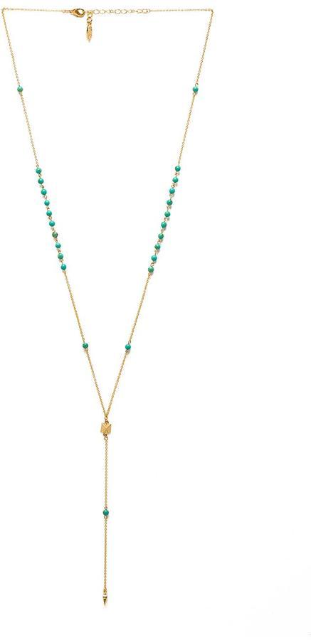 Ettika Dainty Pyramid Lariat with Beads