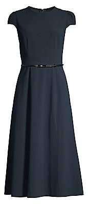 Elie Tahari Women's Miciela Belted A-Line Dress