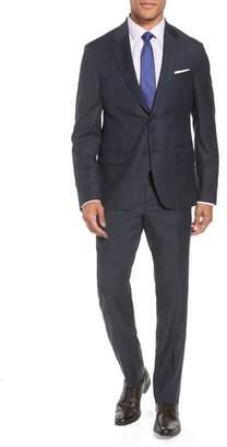 Nordstrom Trim Fit Plaid Wool Suit