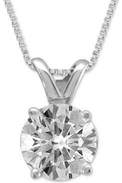 Macy's Diamond Solitaire Pendant Necklace (3/4 ct. t.w.)