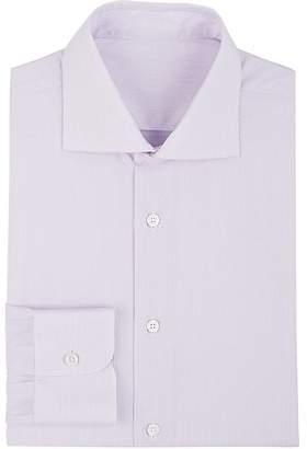 Uman Men's Striped Cotton Poplin Dress Shirt