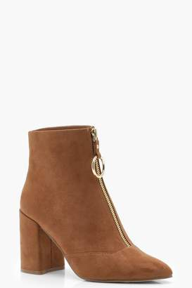 boohoo O Ring Pull Suedette Shoe Boots