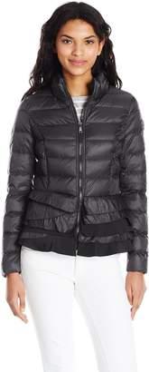 T Tahari Women's Zoey Ruffle Bottom Coat