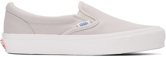 Vans Grey OG Classic Slip-On Sneakers $60 thestylecure.com