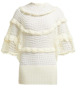 My Beachy Side - Zinnia Crochet Knit Cotton Top - Womens - White