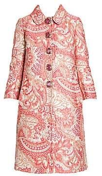 Dolce & Gabbana Women's Jewel Button Jacquard Coat