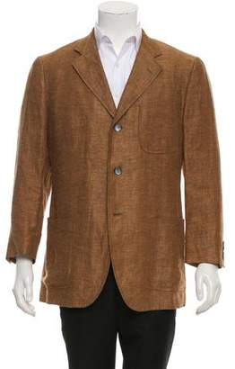 Etro Linen Two-Button Blazer