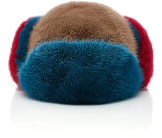 Albertus Swanepoel Pom Pom-Embellished Mink Trapper Hat