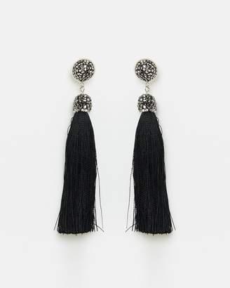 Tapestry Earrings Black
