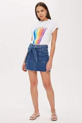 Topshop Denim Utility Skirt