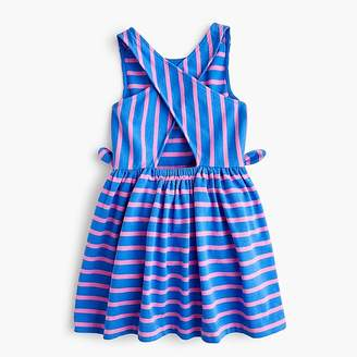 J.Crew Girls' cross-back dress in stripes