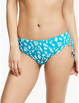 John Lewis & Partners Tangier Ikat Smooth Bikini Briefs, Aqua Jade