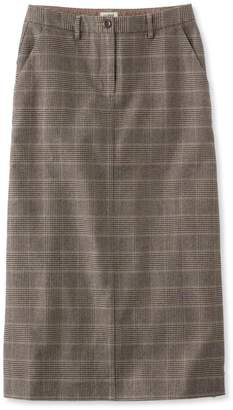 L.L. Bean L.L.Bean Weekend Mid-Length Skirt, Plaid