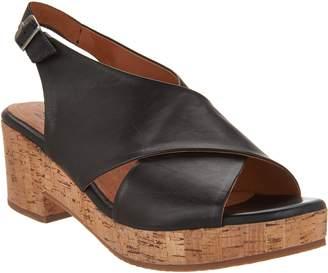 Miz Mooz Leather Wedge Sandals - Comet