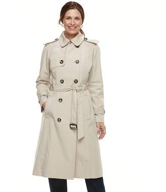 London Fog Tower By Women's TOWER by Double Breasted Trench Coat