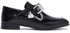 McQ Buckled Glossed-Leather Loafers