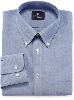STAFFORD Stafford Travel Wrinkle-Free Oxford Dress Shirt - Big & Tall