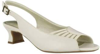 Easy Street Shoes Slingback Peep Toe Pumps - Bliss