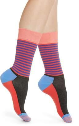 Happy Socks Stripe & Colorblock Crew Socks