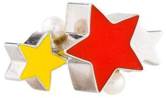 Delfina Delettrez Pearl & Enamel Star Cocktail Ring