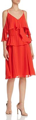 Nanette Lepore nanette Flounced Cold-Shoulder Dress