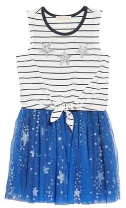 Truly Me Stripe Tank & Tulle Dress Set