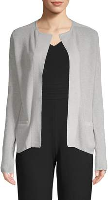Raffi Open-Front Cotton & Cashmere Blend Cardigan