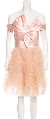 Marchesa Satin and Tulle Dress w/ Tags