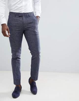 Farah Smart Skinny Suit Pants In Twisted Yarn